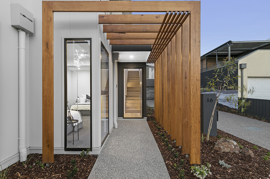 timber entry to unit