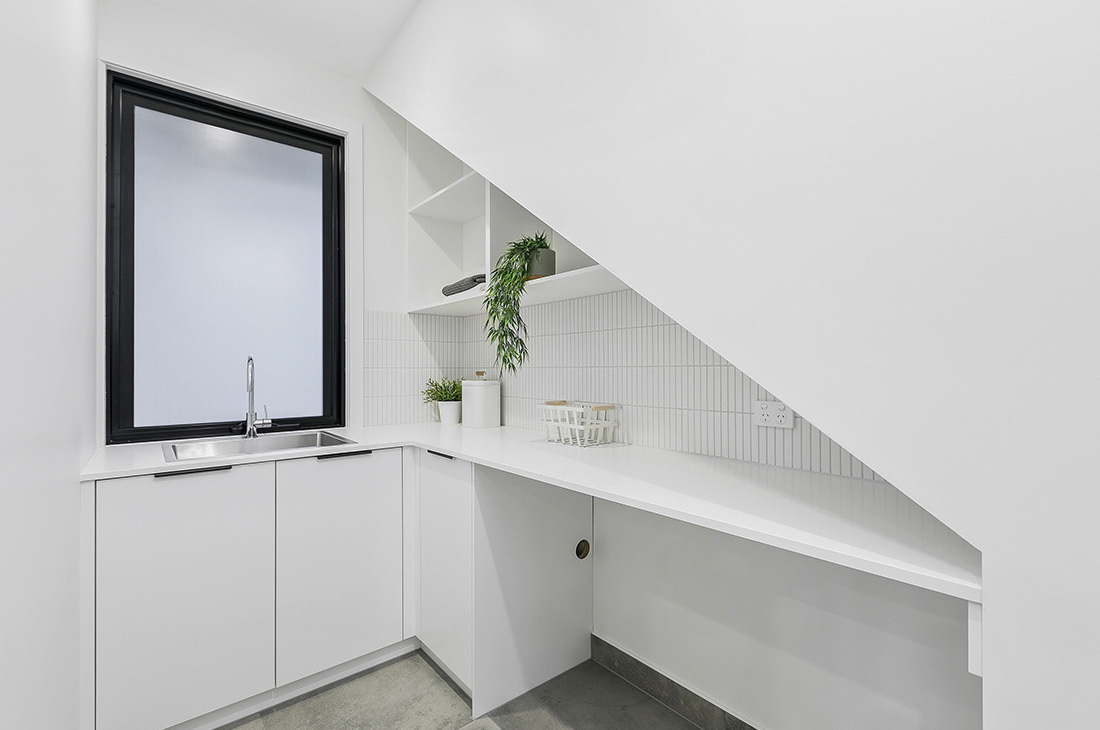 laundry making the most of space under the stair
