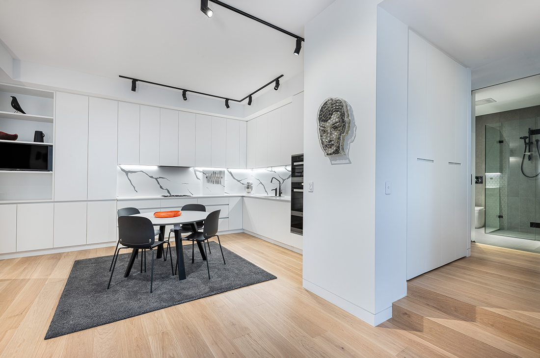 contemporary apartment within heritage listed building