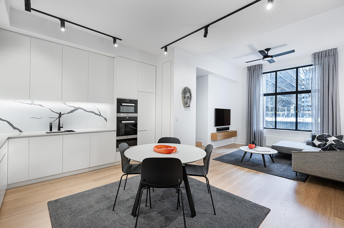contemporary apartment within heritage listed builidng