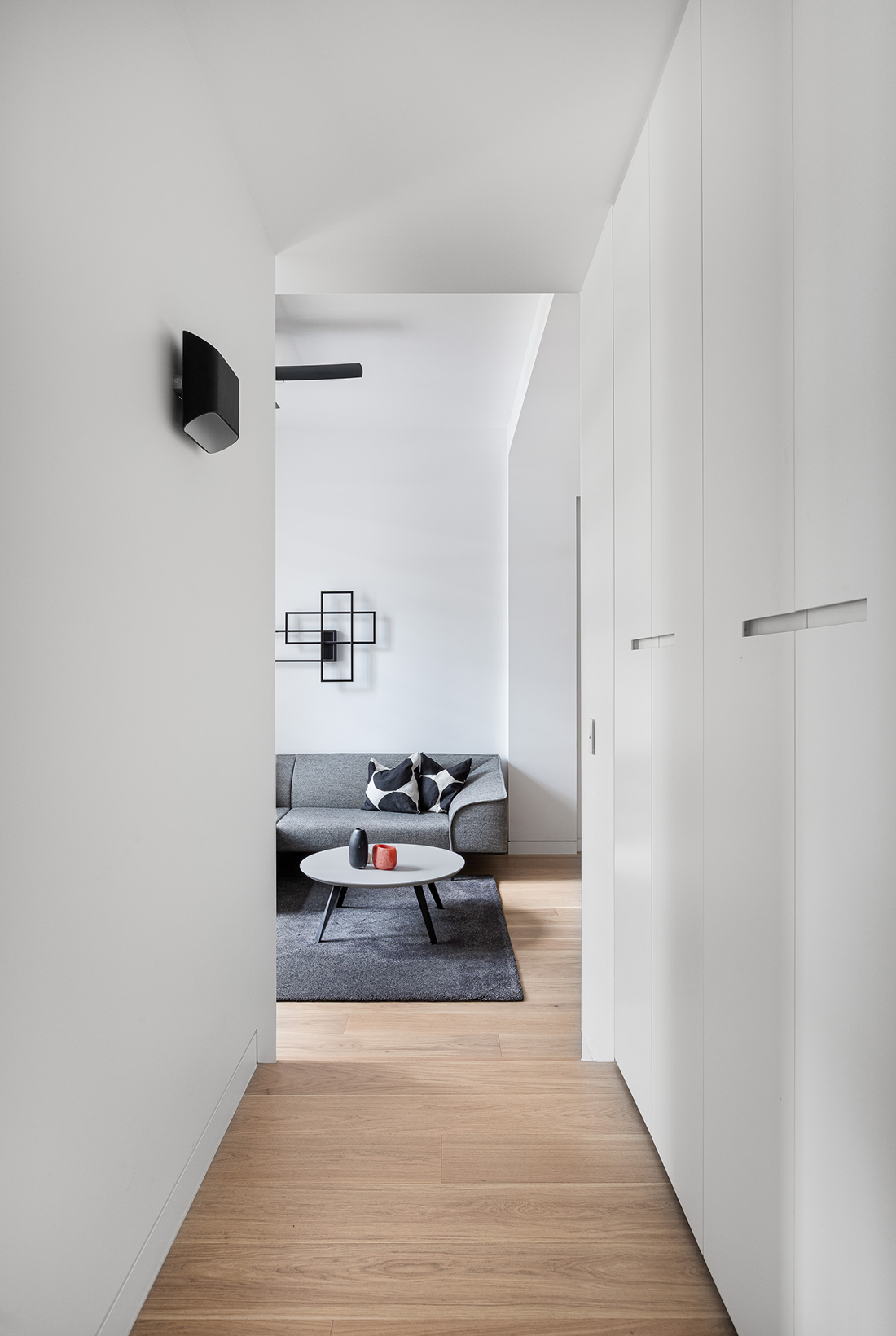 contemporary apartment within heritage listed building laundry cupboard